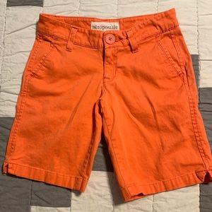 Aeropostale Juniors Size 00 Bermuda Stretch Shorts